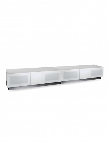 TV Stand Element Modular EMTMOD2500-WHI White TV Stand with Glass Top