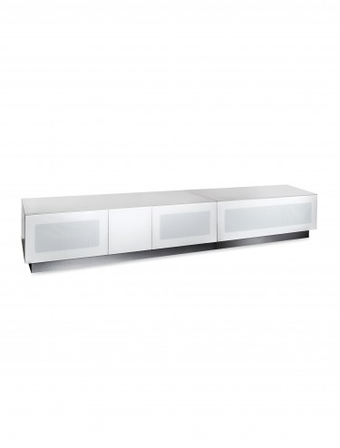 TV Stand Element Modular EMTMOD2100-WHI White TV Stand with Glass Top