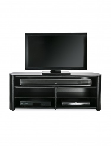 Alphason FW1350SB-BLK Finewoods TV Stand - Black