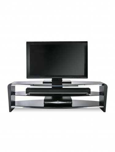 Alphason FRN1400/3BLK/BK Francium TV Stand in Black