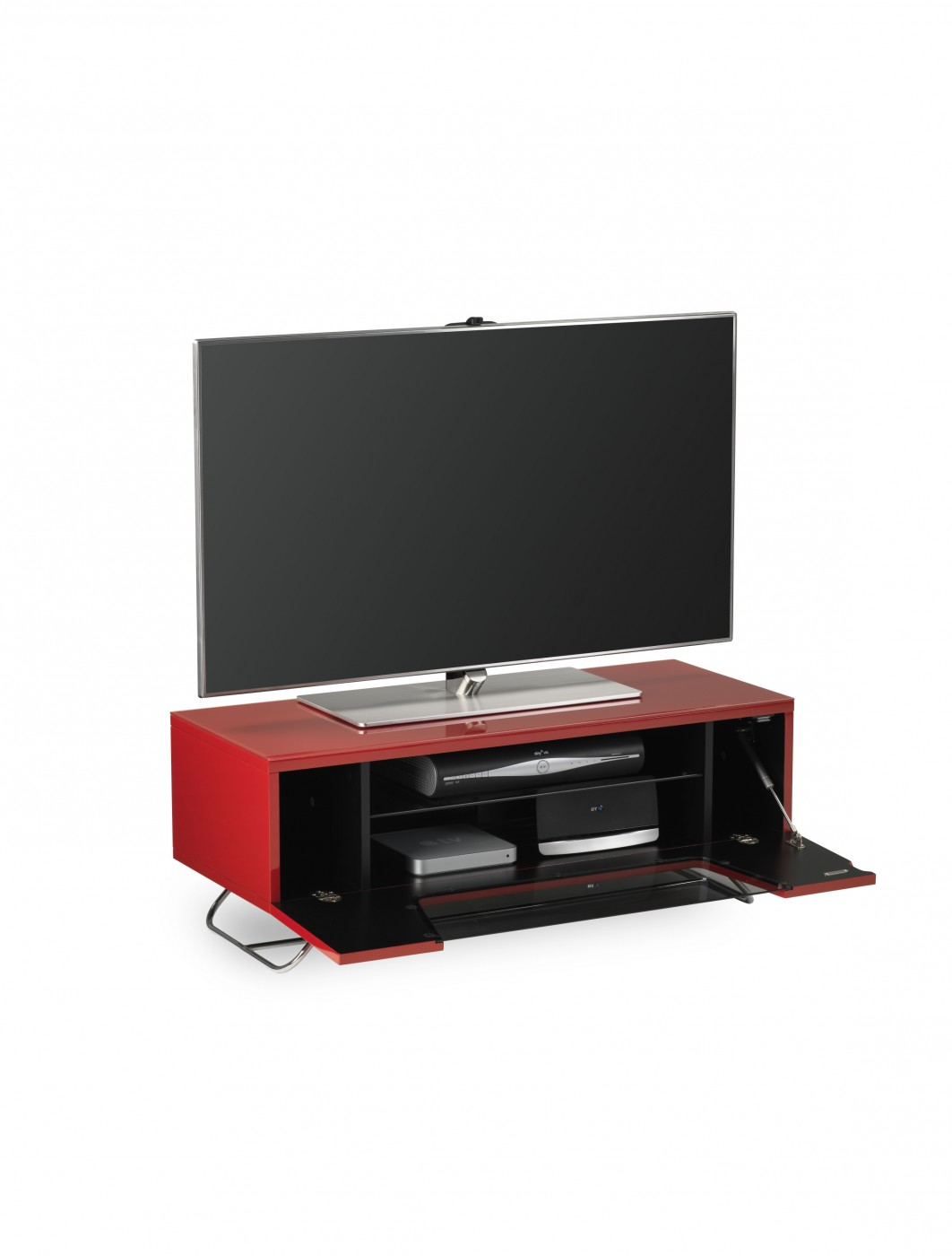 Alphason Chromium 2 TV Stand in Red CRO2-1000CB-RED