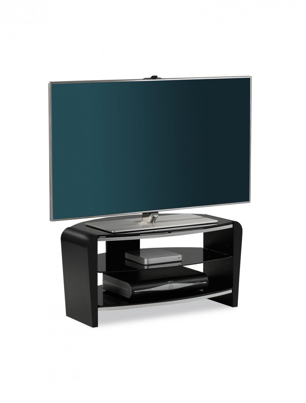 alphason frn800 3blk bk francium tv stand