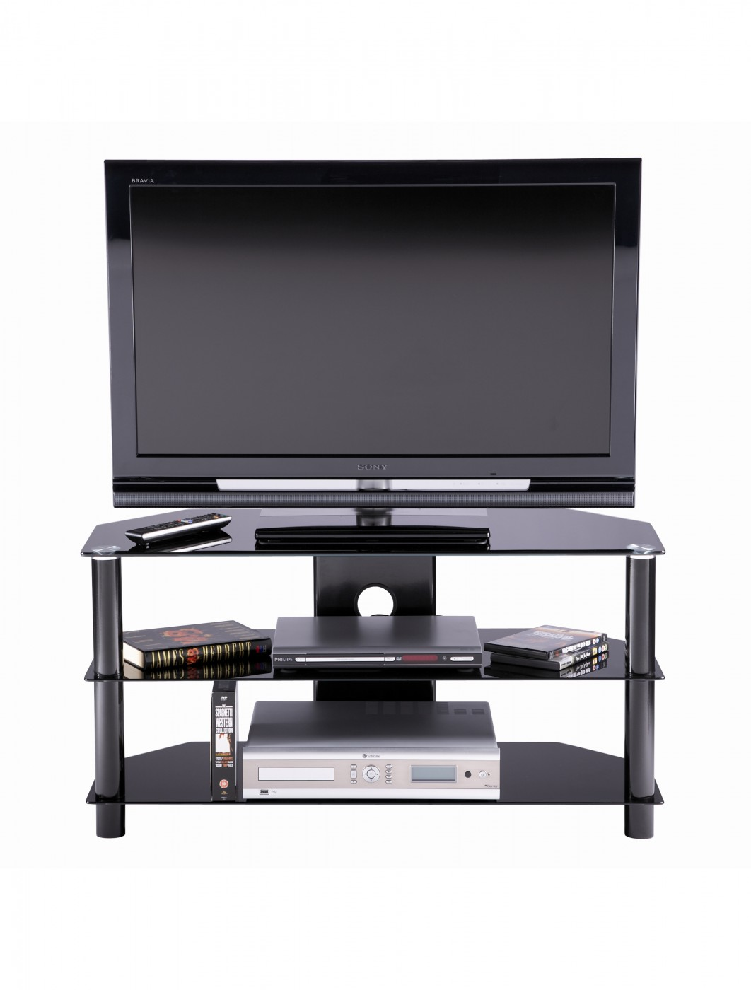 Alphason ESS1000/3-BLK Essentials TV Unit