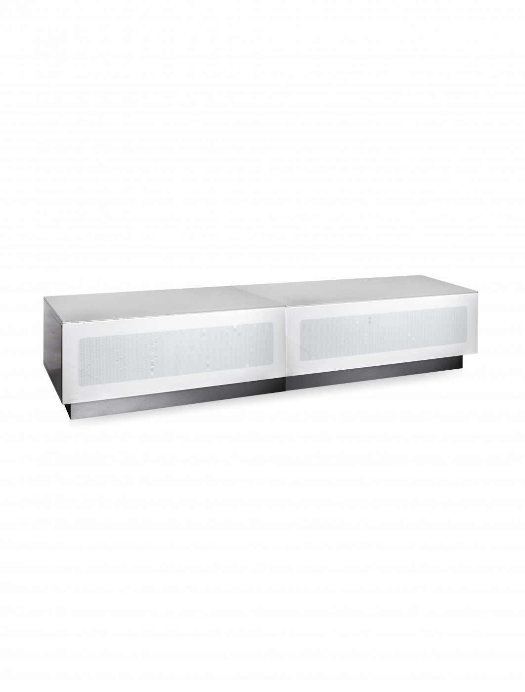 TV Stand Element Modular EMTMOD1700-WHI White TV Stand with Glass Top